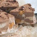 Raw Cashew Cheesecake with Peanut Butter Swirls