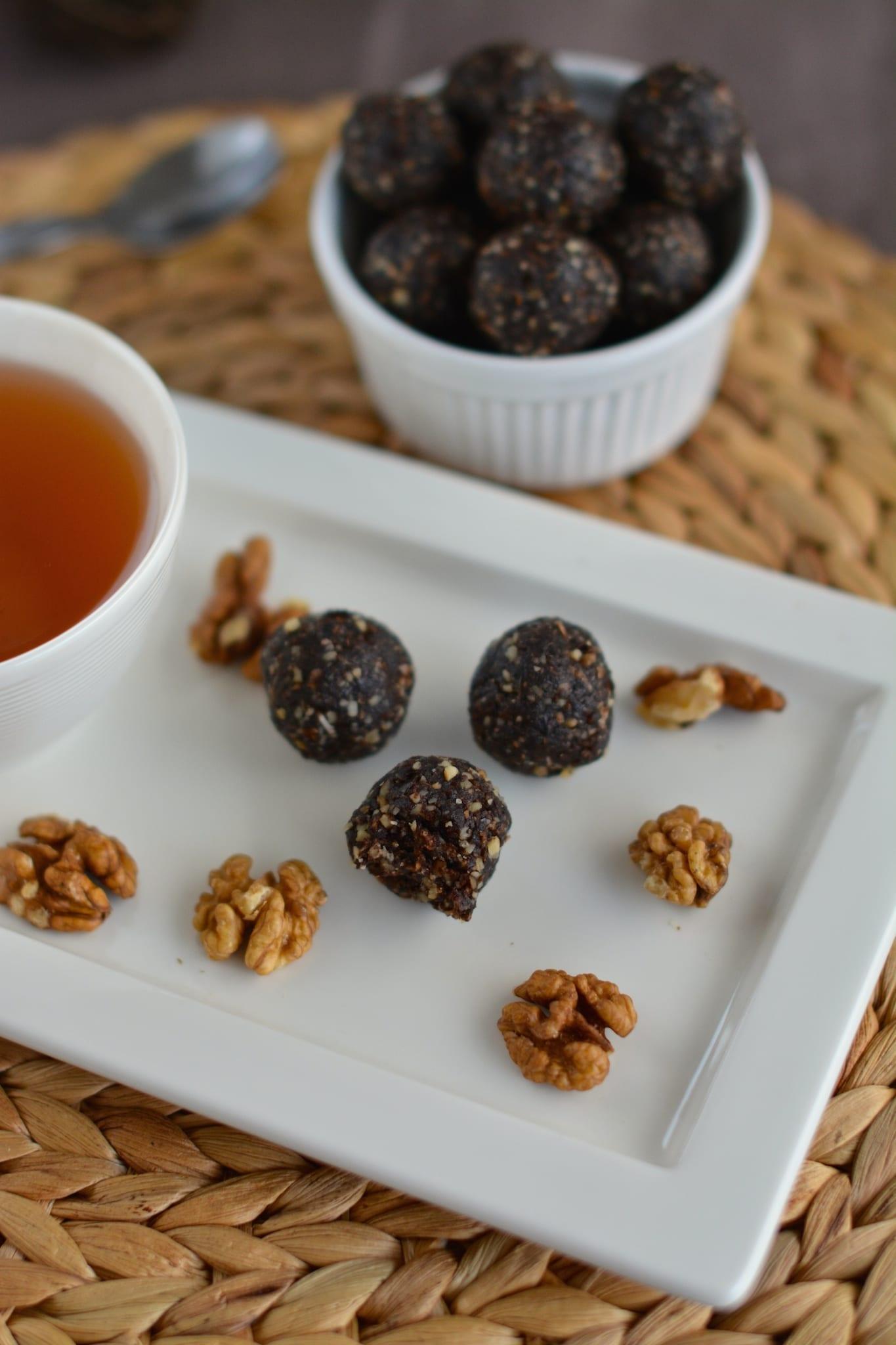 walnuts, dates, coconut, carob, candies