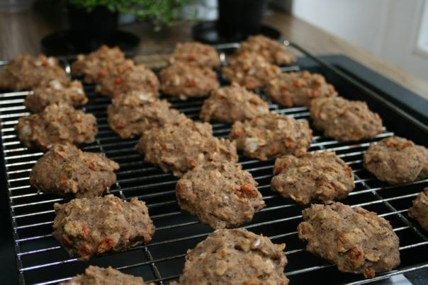 sugar-free, oil-free, vegan, oatmeal, cookies, goji berries, poppy seeds, coconut