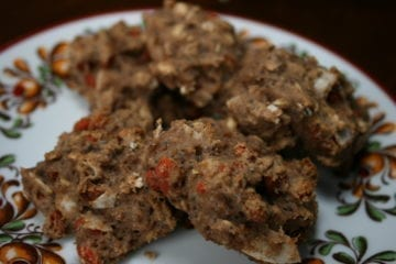 sugar-free, oil-free, wheat-free, vegan, oatmeal, goji berries, poppy seeds, cookies