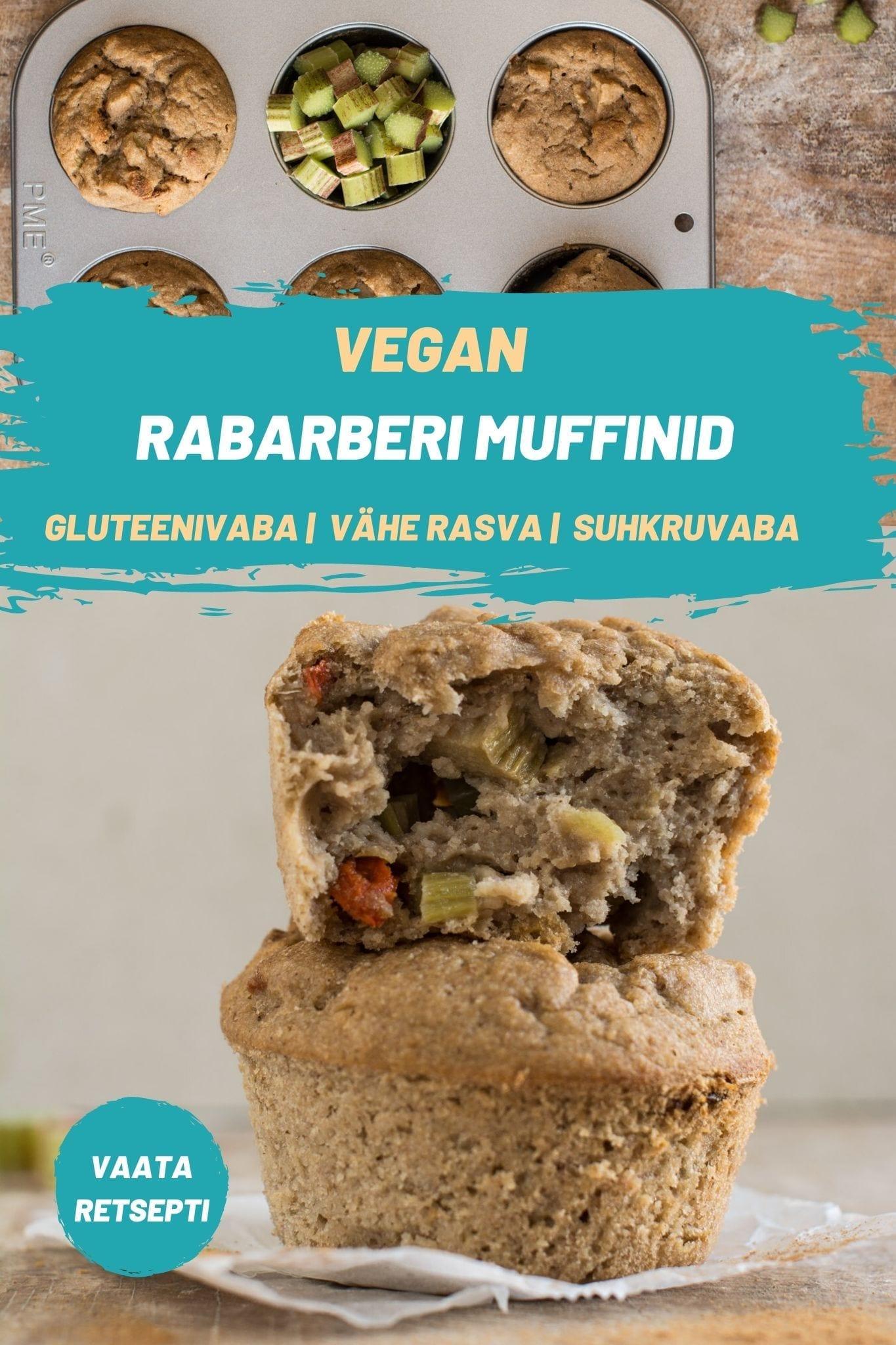 Need vegan kaneeli rabarberi muffinid on täiuslik hommikusöök või kerge suupiste. Lisaks sellele, et neid on kiire ja lihtne valmistada, on need ka õli-, suhkru-, piima- ning gluteenivabad.