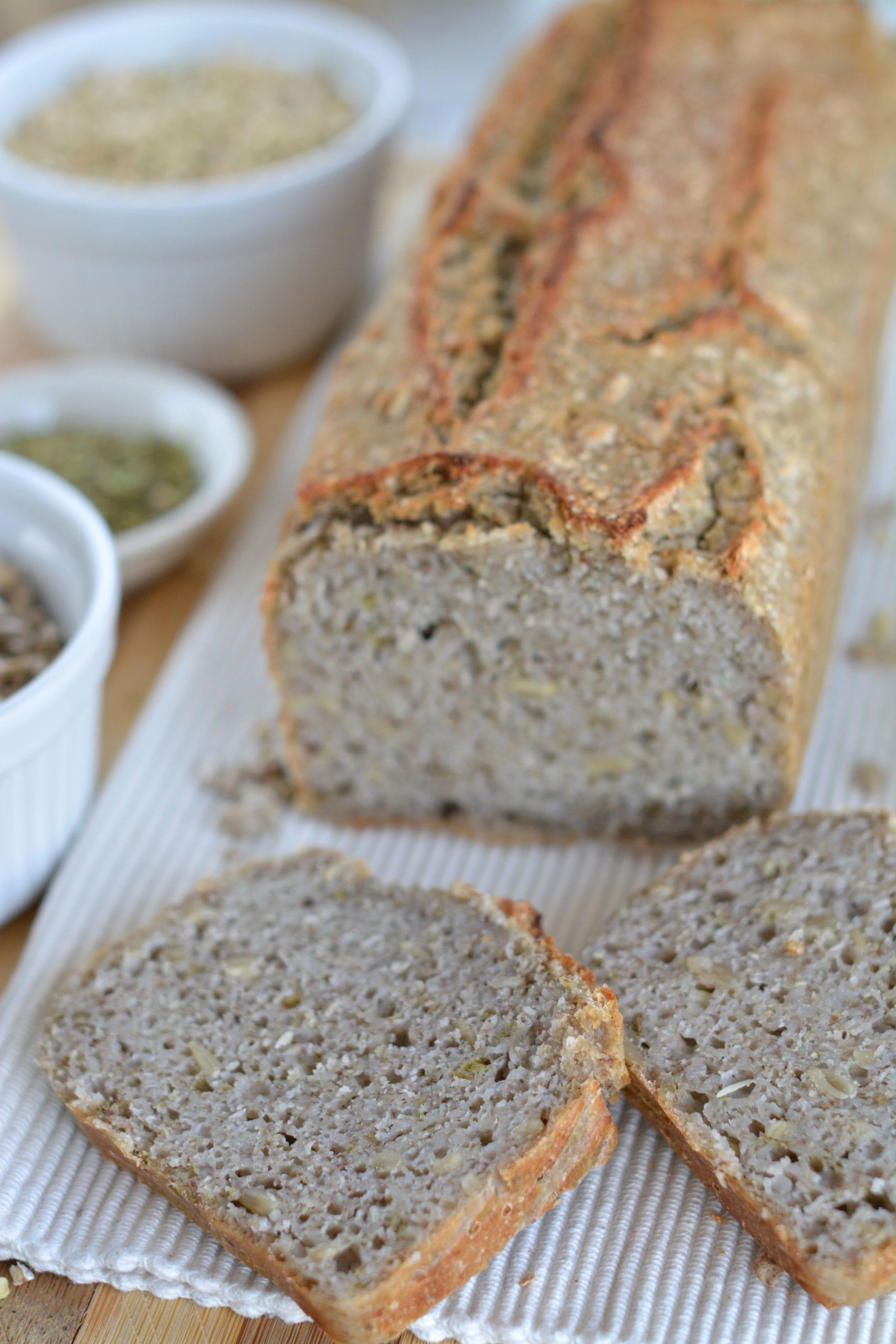 Fermented Buckwheat Bread With Hemp Seed Spread
