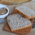 No starter fermented buckwheat bread that is flourless, yeast-free and gluten-free.