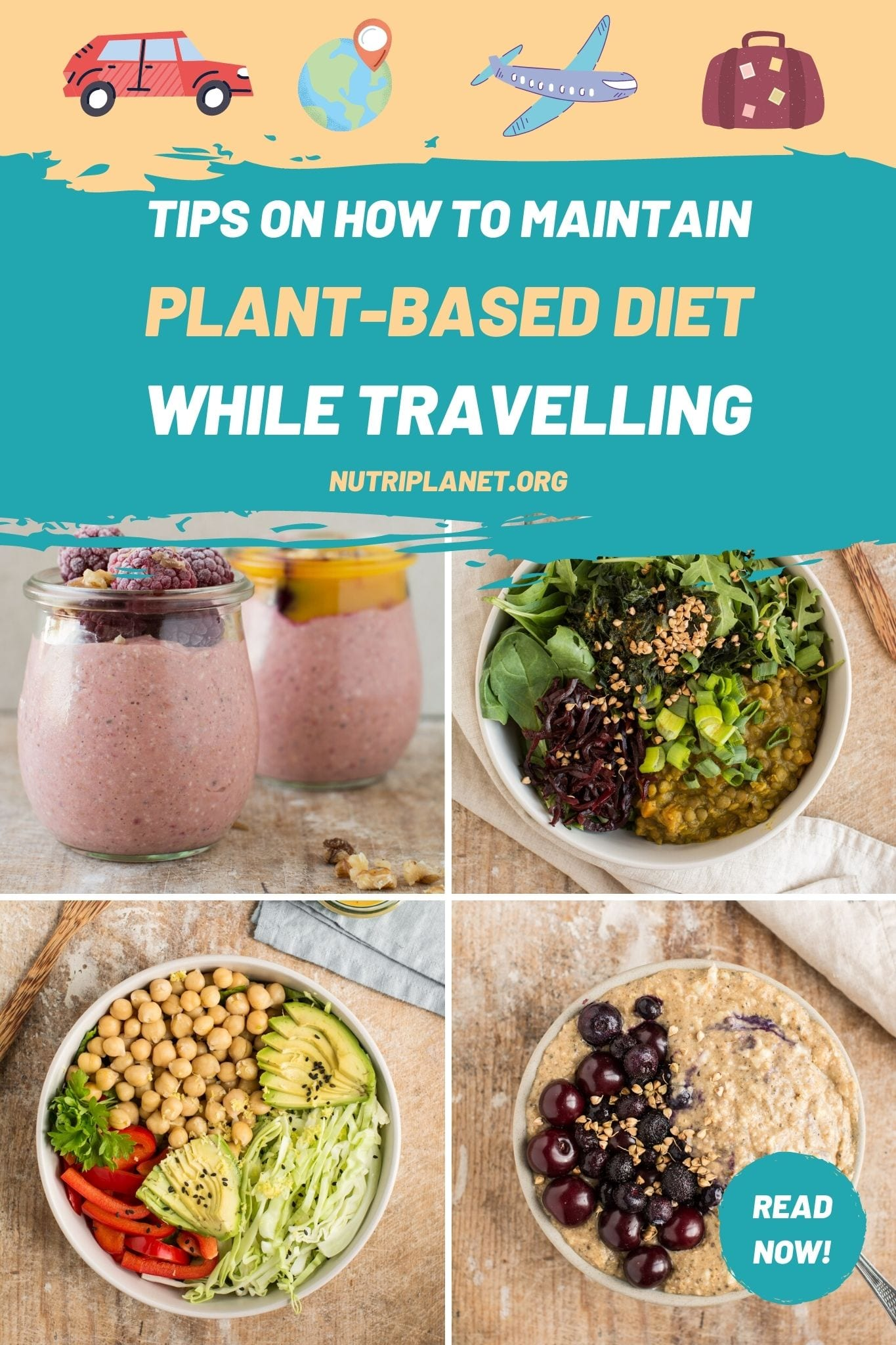 Easy tips on how to eat plant-based diet while travelling.
