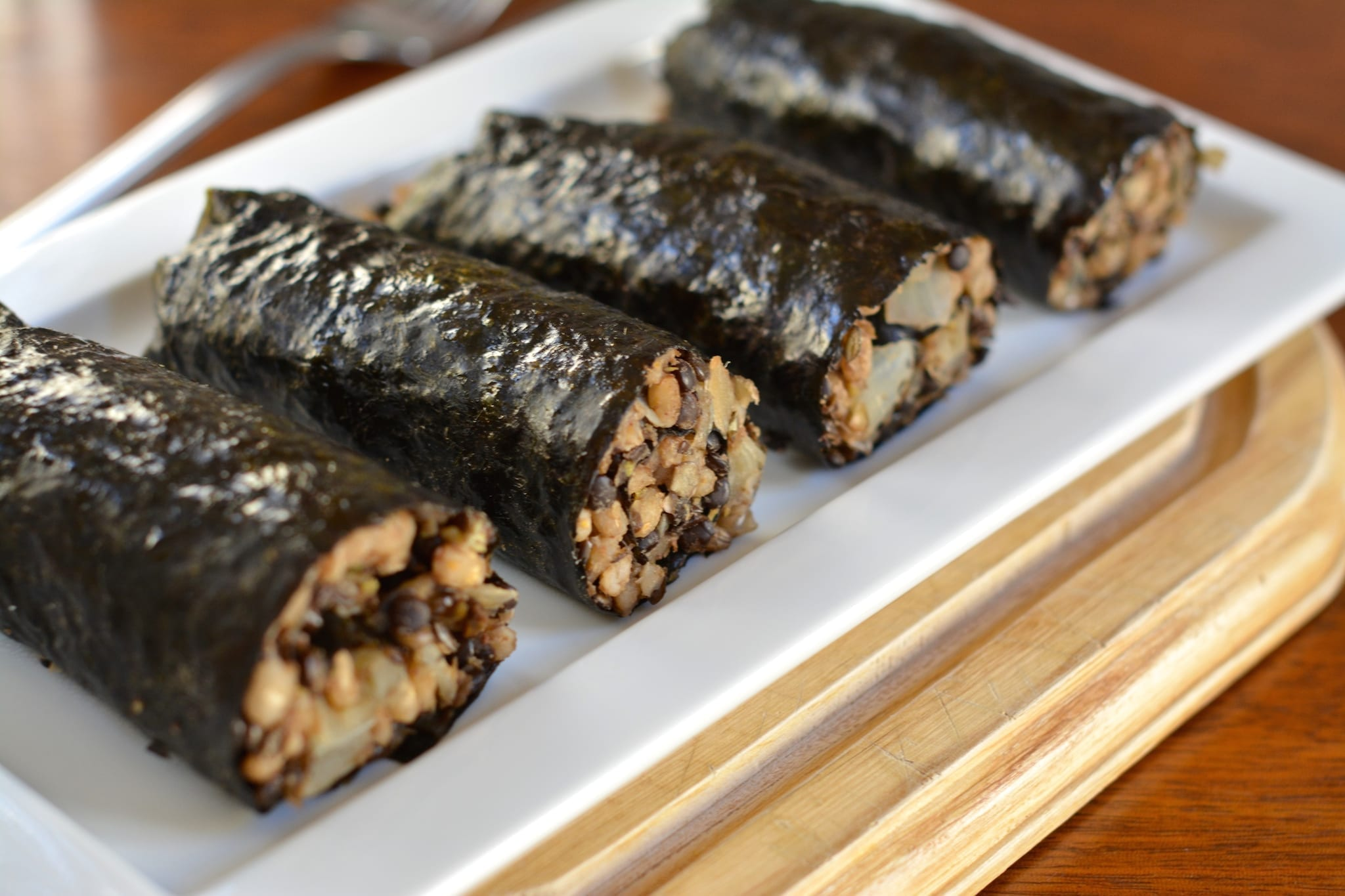 Nori Sausages with Barley-Lentil Filling