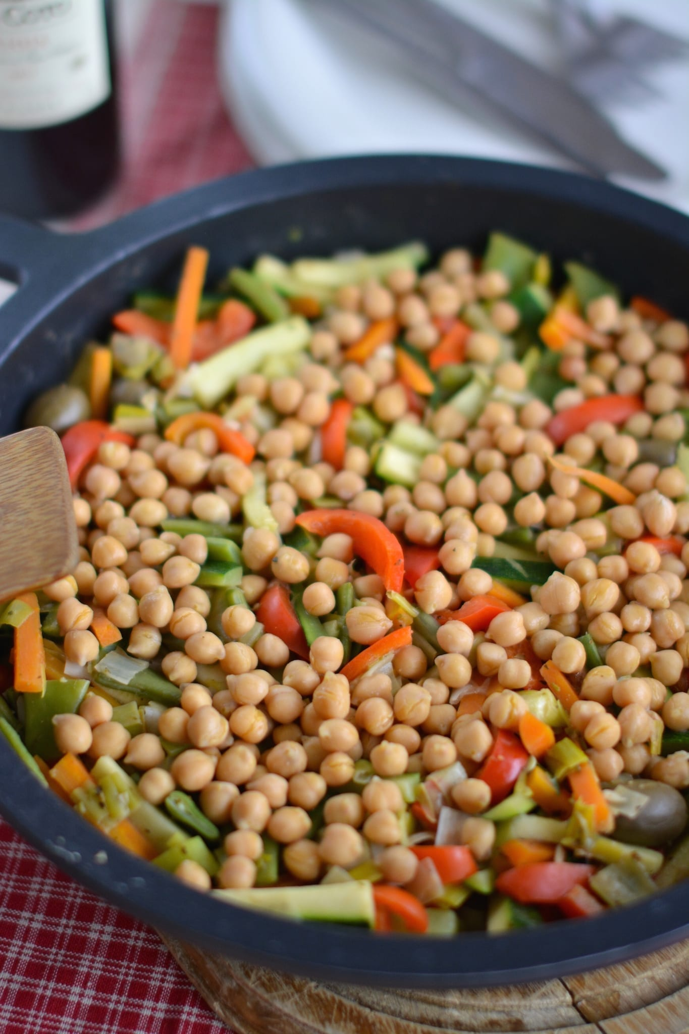 Veggie-Chickpea stew with Peanut Butter Sauce