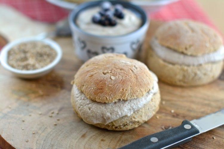 Shrove Tuesday Spelt Buns with Cashew-Raw Buckwheat Cream