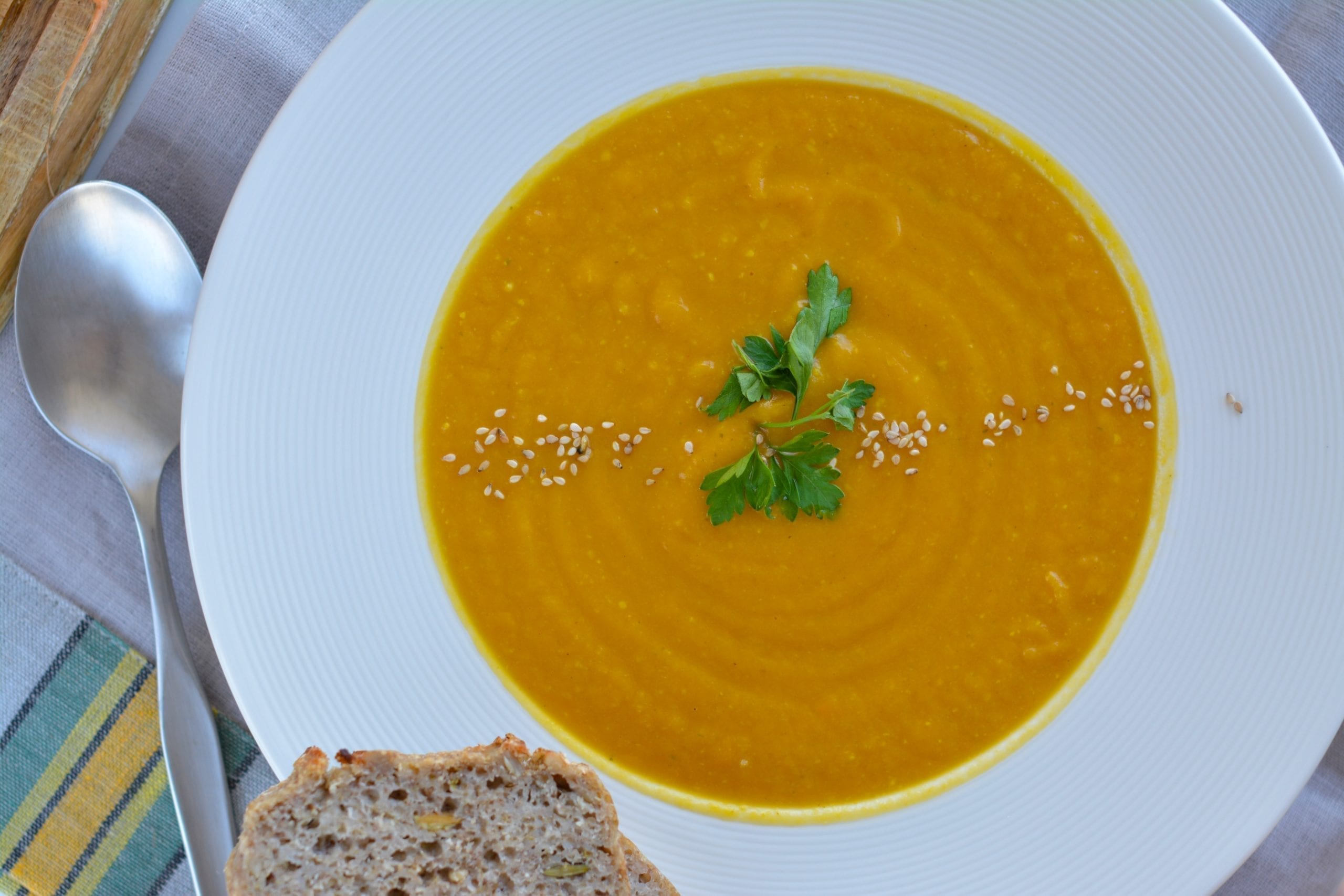 Carrot-Sweet Potato Puree Soup