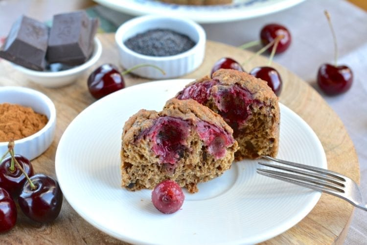 Spicy Cherry-Poppy Seed Muffins