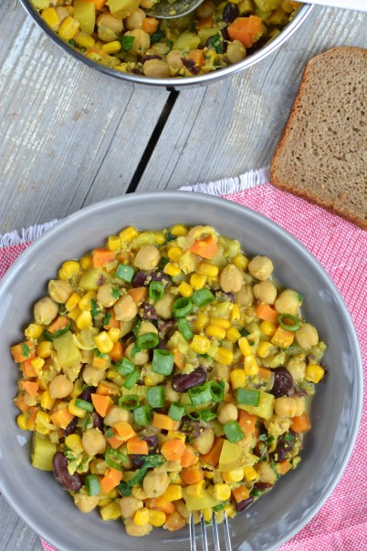 Chickpea-Red Bean Stew
