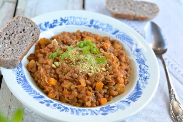 Green Lentil-Tomato Stew
