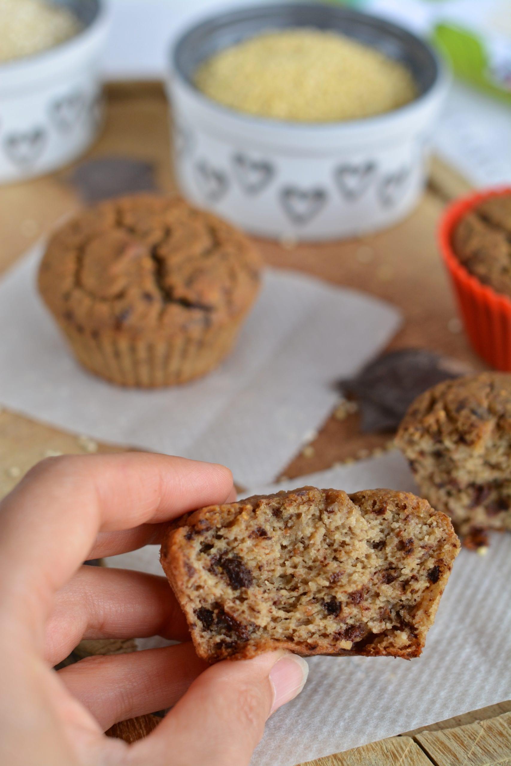 Chocolaty Quinoa-Millet Muffins