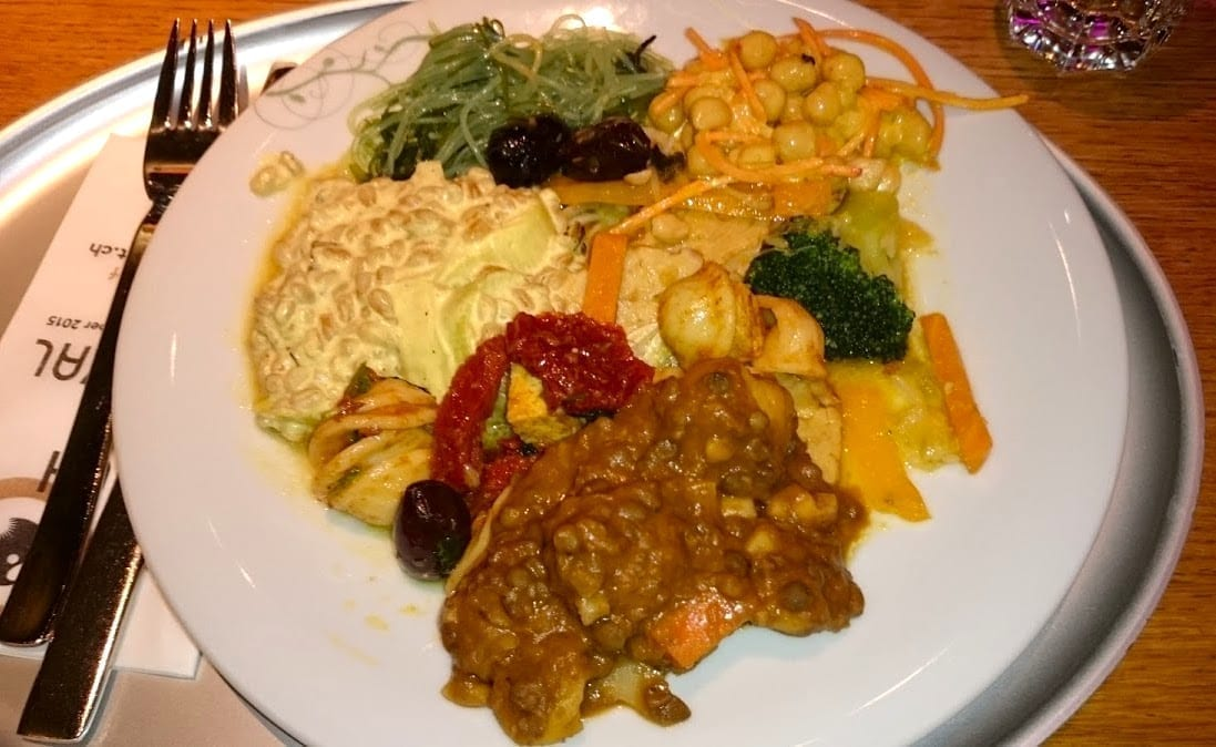 A plateful of goodness at Tibits in Zürich