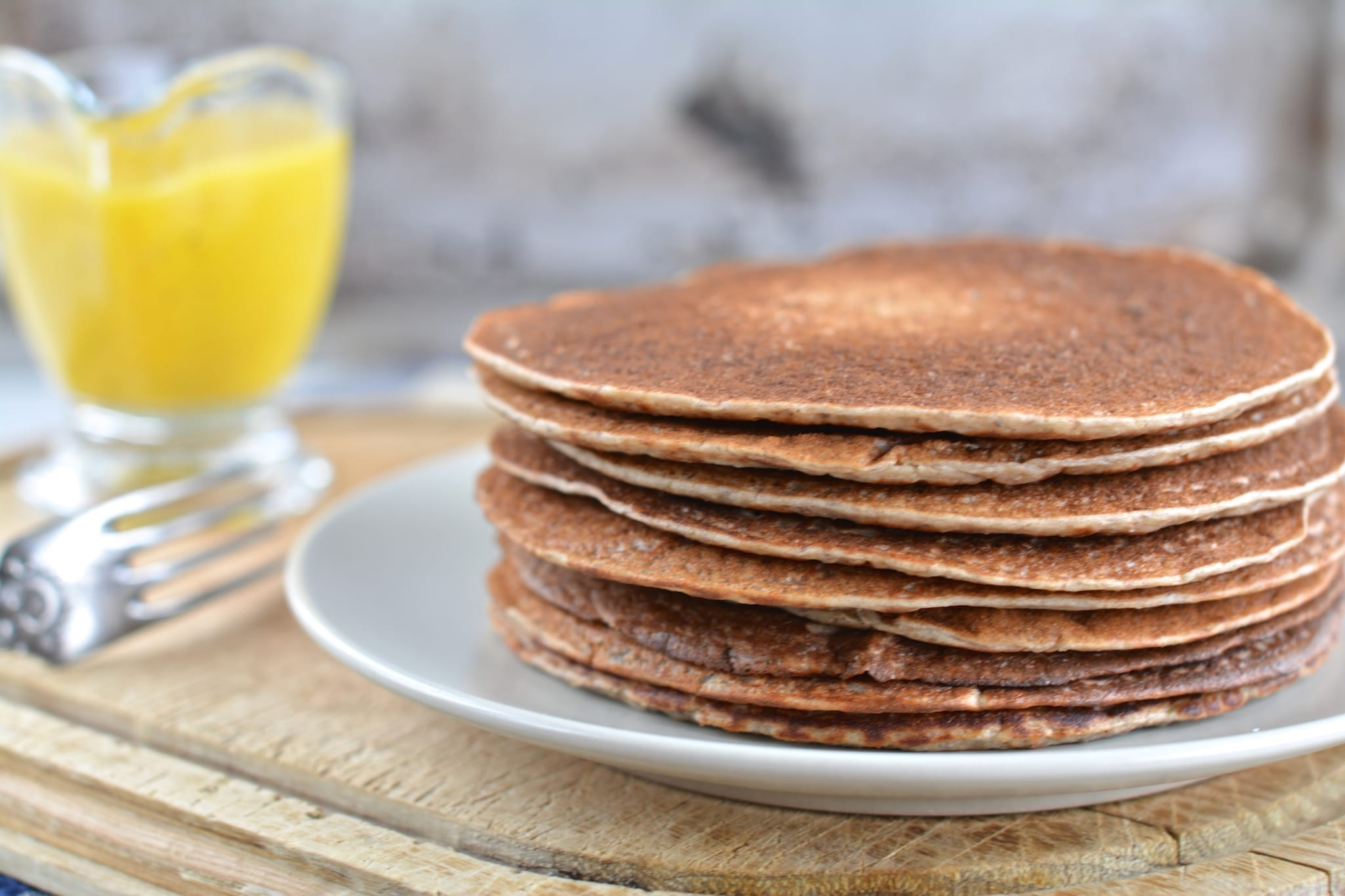 Buckwheat Sourdough Pancakes Candida Cleanse