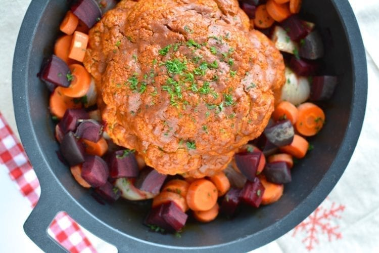 Cauliflower, Whole Oven-Baked