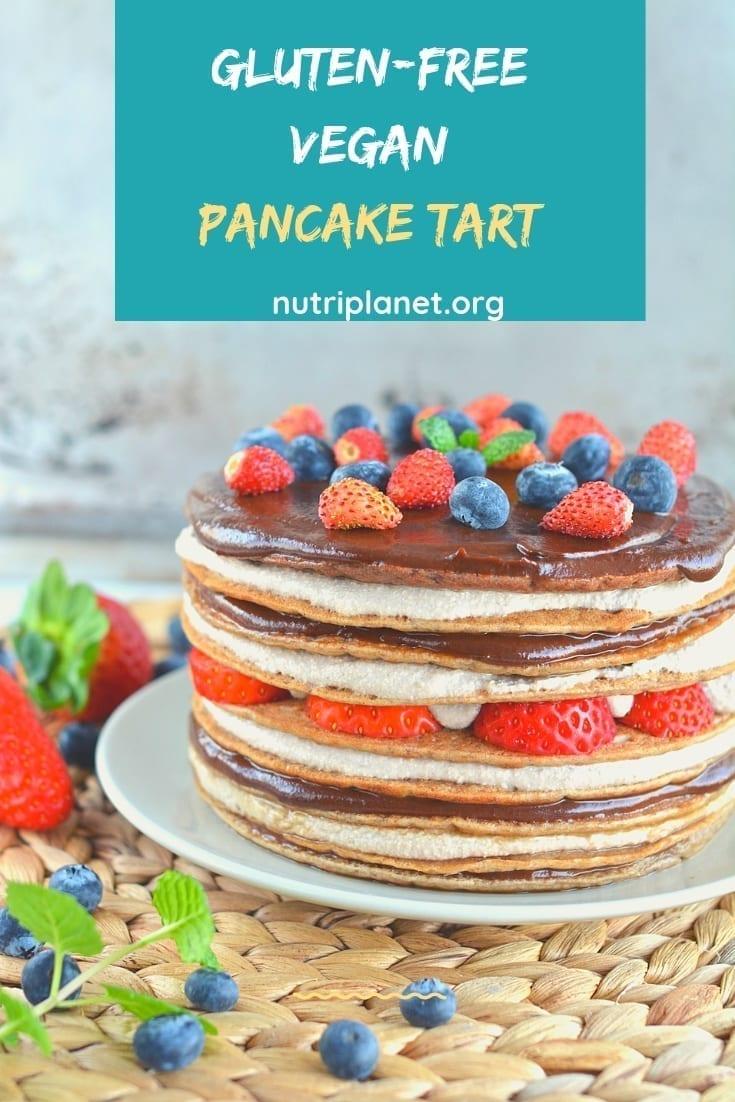Vegan gluten-free pancake tart