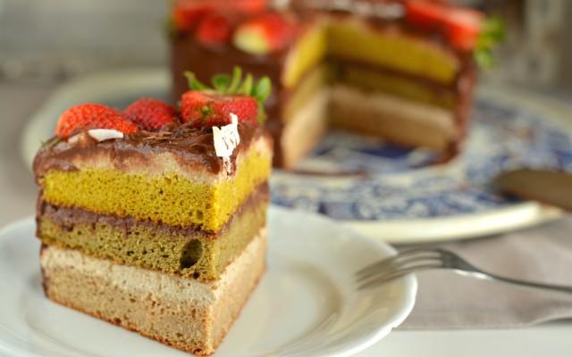 Ricotta-Chocolate Sponge Cake, Gluten-Free and Vegan