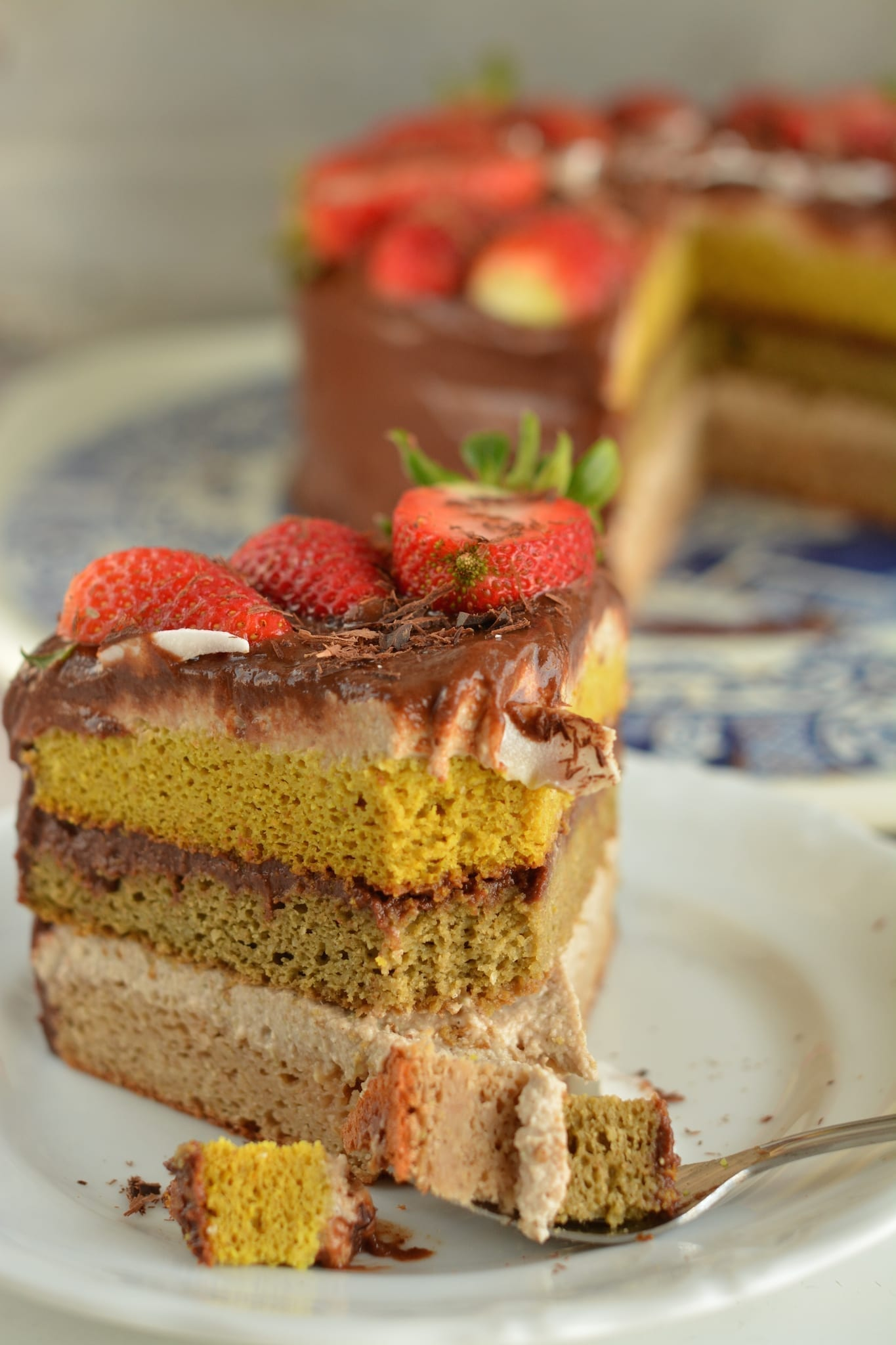 Ricotta-Chocolate Sponge Cake, Gluten-Free and Vegan