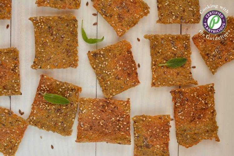 Oil-Free Quinoa Buckwheat Crackers