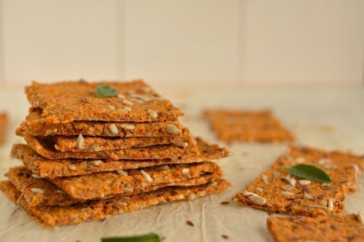 Homemade Oil-Free Buckwheat Crackers