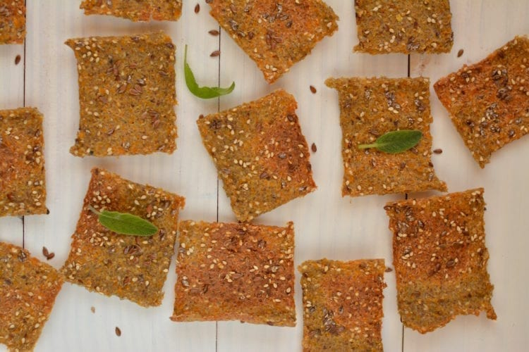 Quinoa-Buckwheat Crackers with Pumpkin