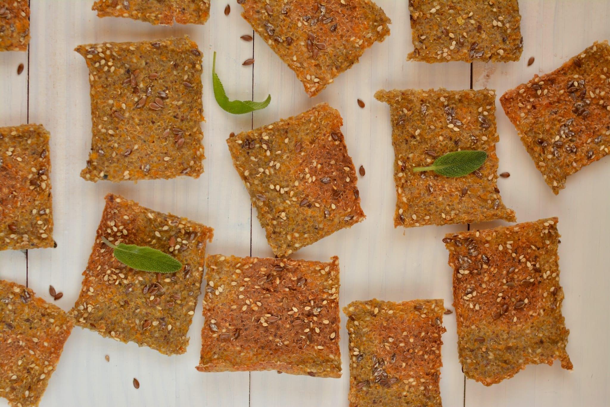 Crackers, Quinoa-Buckwheat with Pumpkin