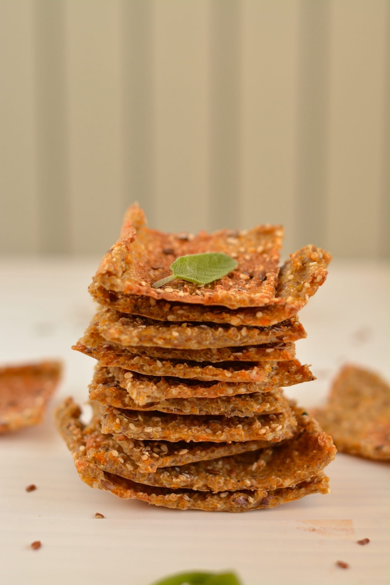 Quinoa-Buckwheat Crackers with Pumpkin - blogs de Recipes