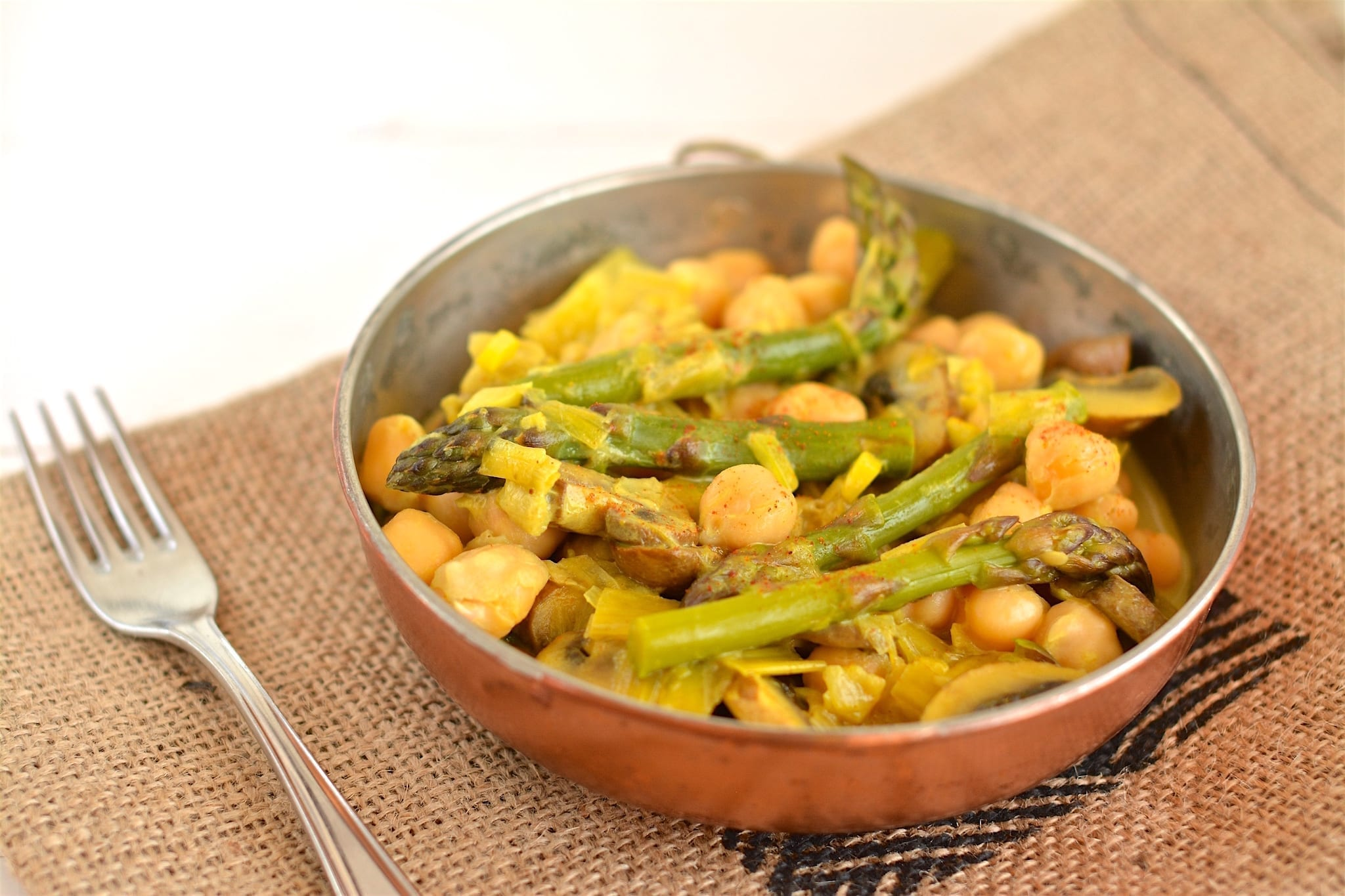 Curry, Asparagus-Mushroom-Chickpea