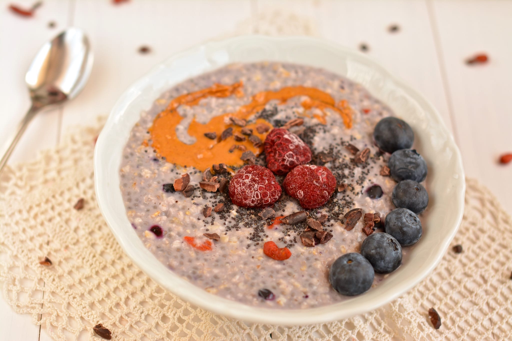 Oatmeal, Blueberry-Chia