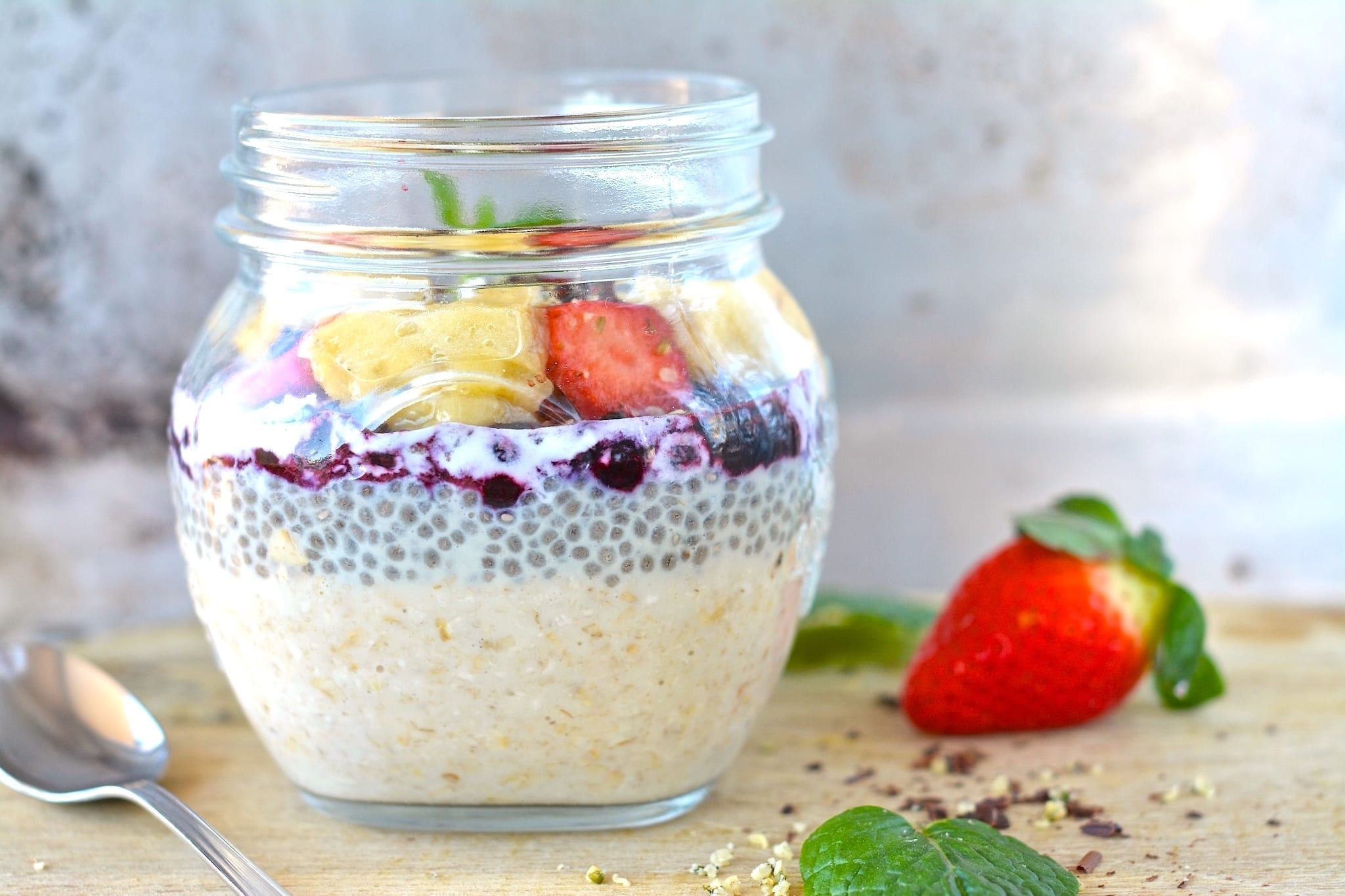 Oatmeal in jar