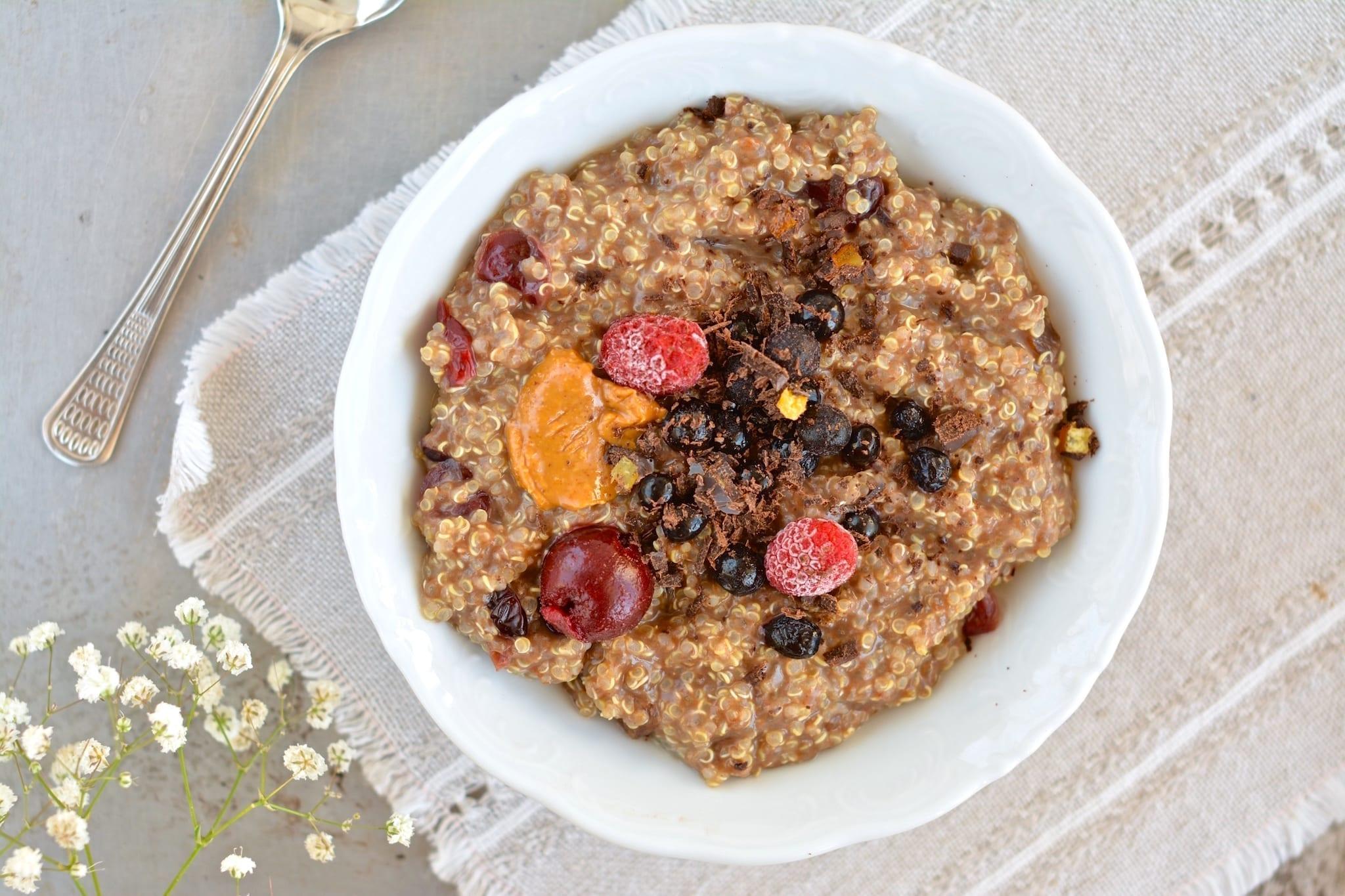 Porridge, Quinoa-Carob-Chia