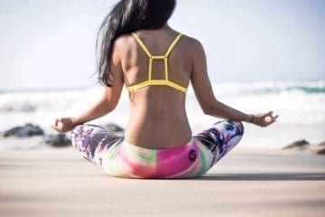 Yoga-in-beach