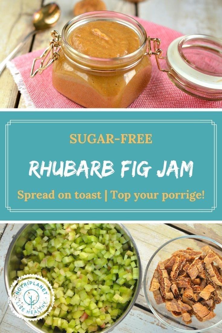 Sugar-Free Rhubarb Fig Jam