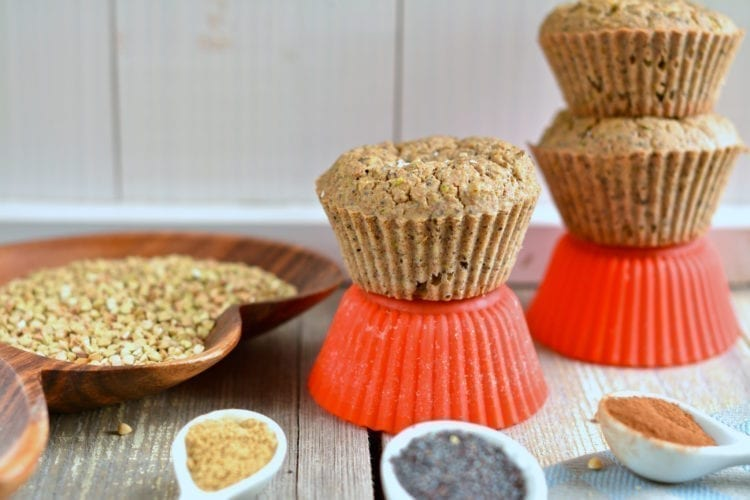 vegan candida cleanse zucchini muffins