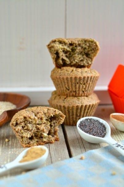 muffins-buckwheat-oat-bran-zucchini, candida fighting