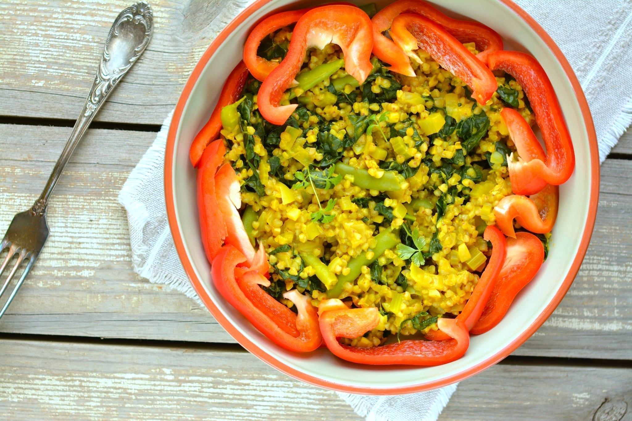Buckwheat-Green Bean-Kale Stew, vegan candida diet meal plans