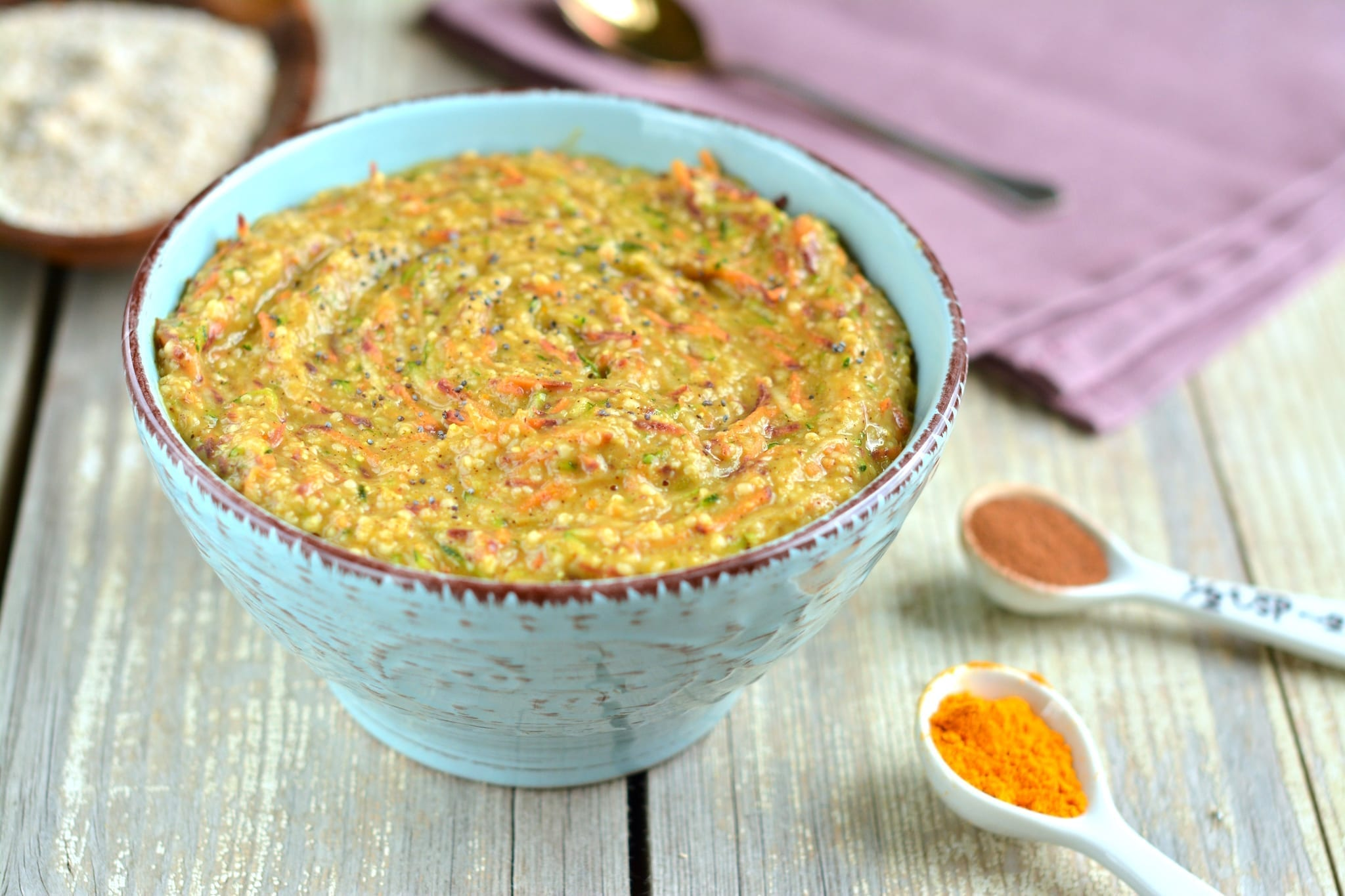 porridge-spiced-oat-bran-carrot-zucchini