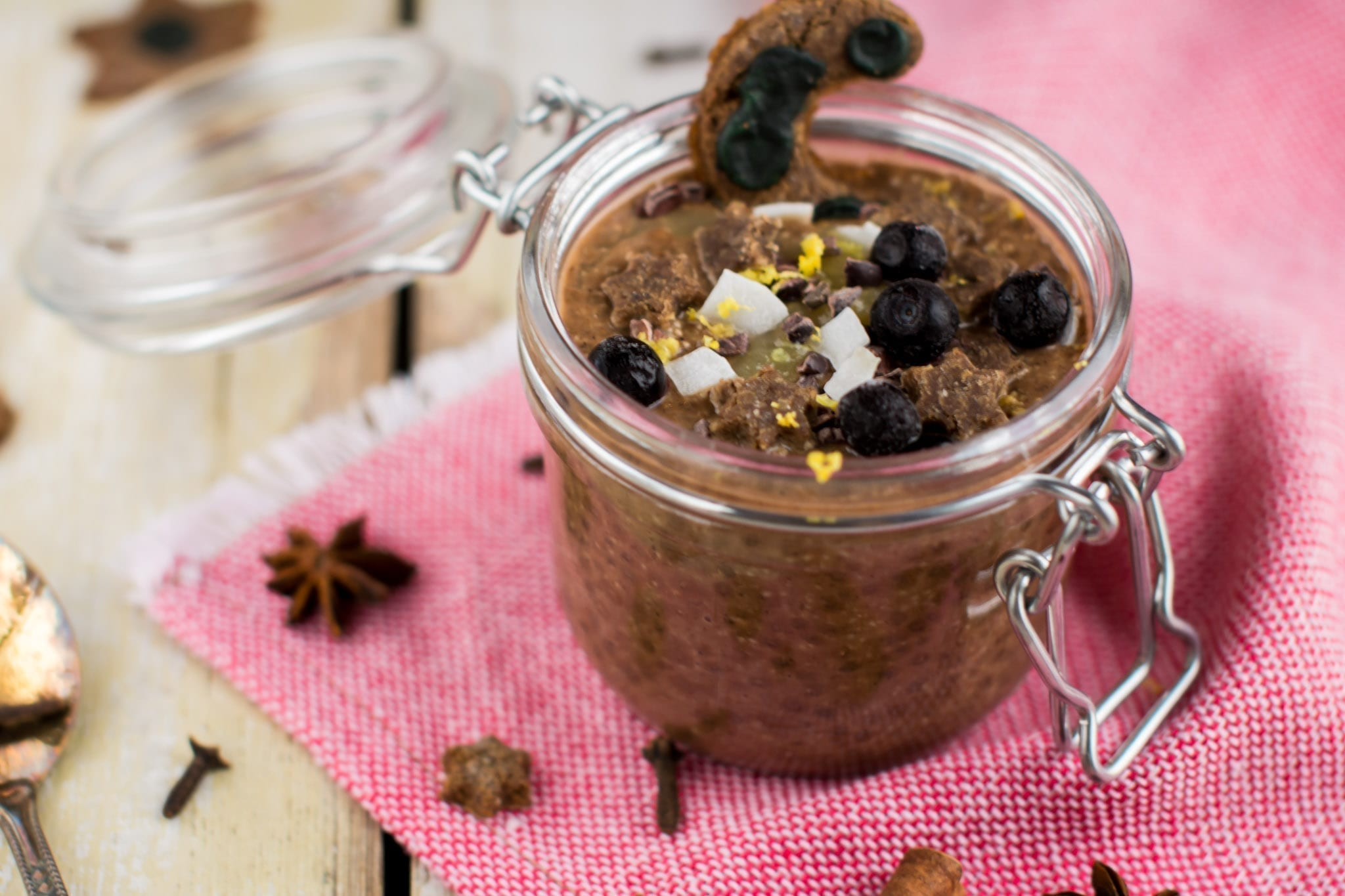 Pudding, Chia-Carob, candida diet recipes
