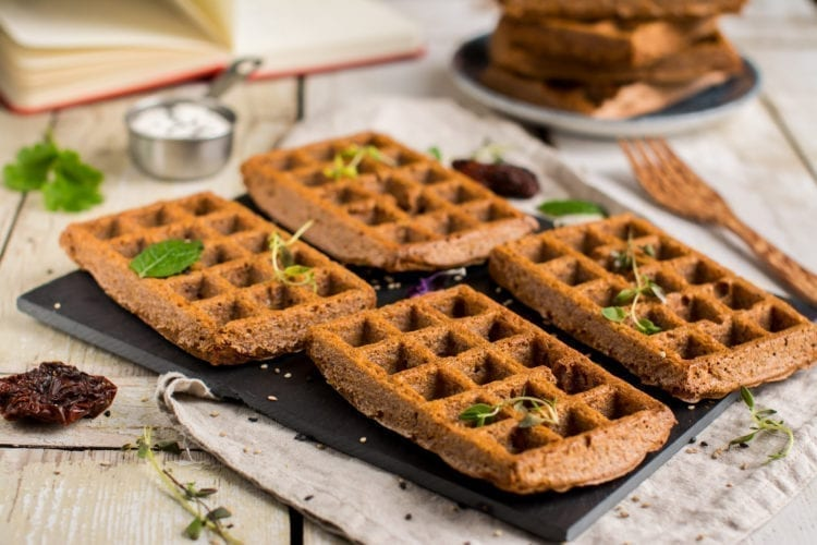 Pizza Flavored Vegan Gluten-Free Potato Waffles