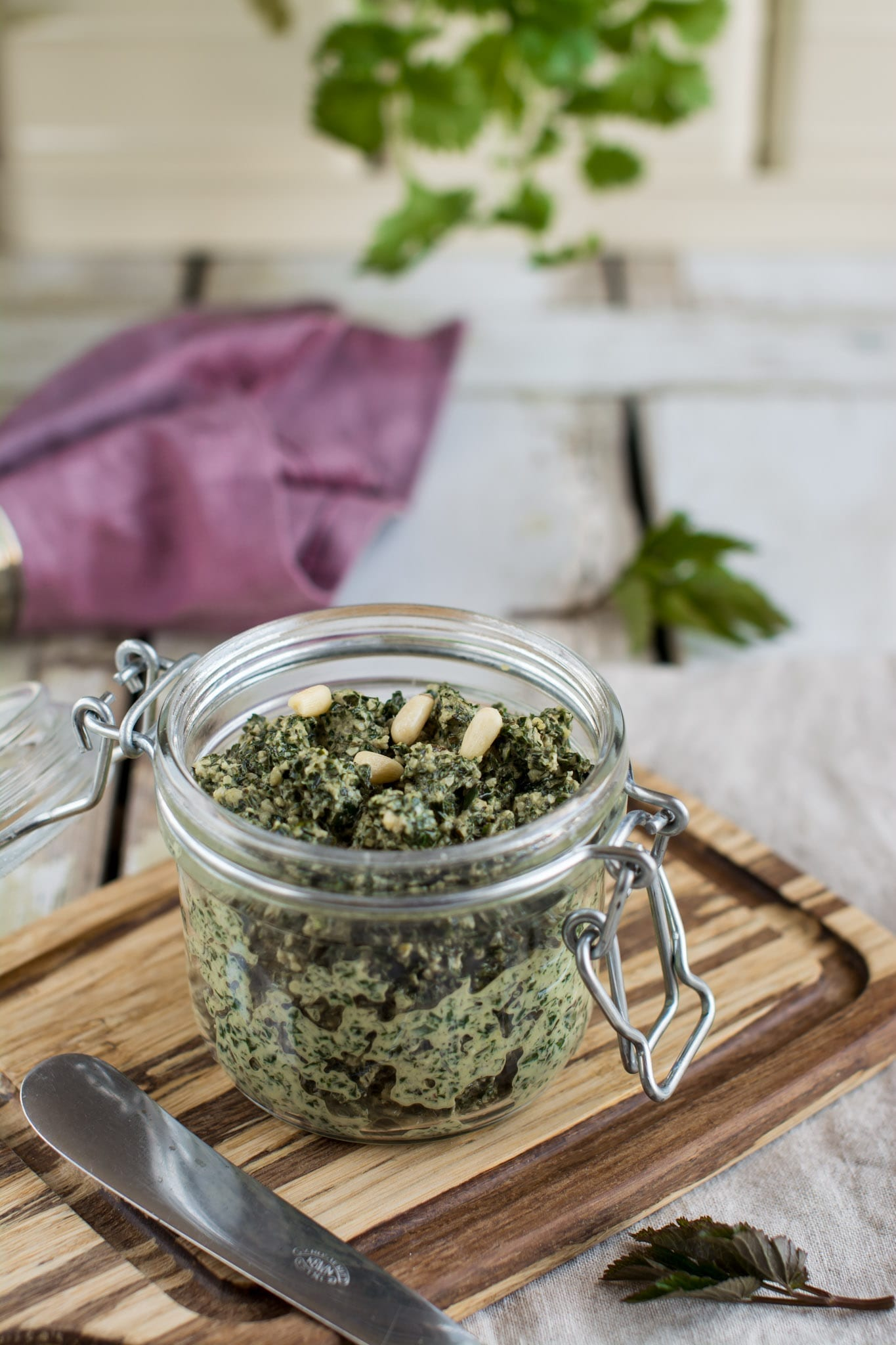 Oil-free Ground elder pesto