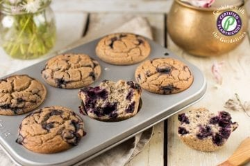 Vegan Gluten-Free Blueberry Muffins, Oil-Free & Sugar-Free