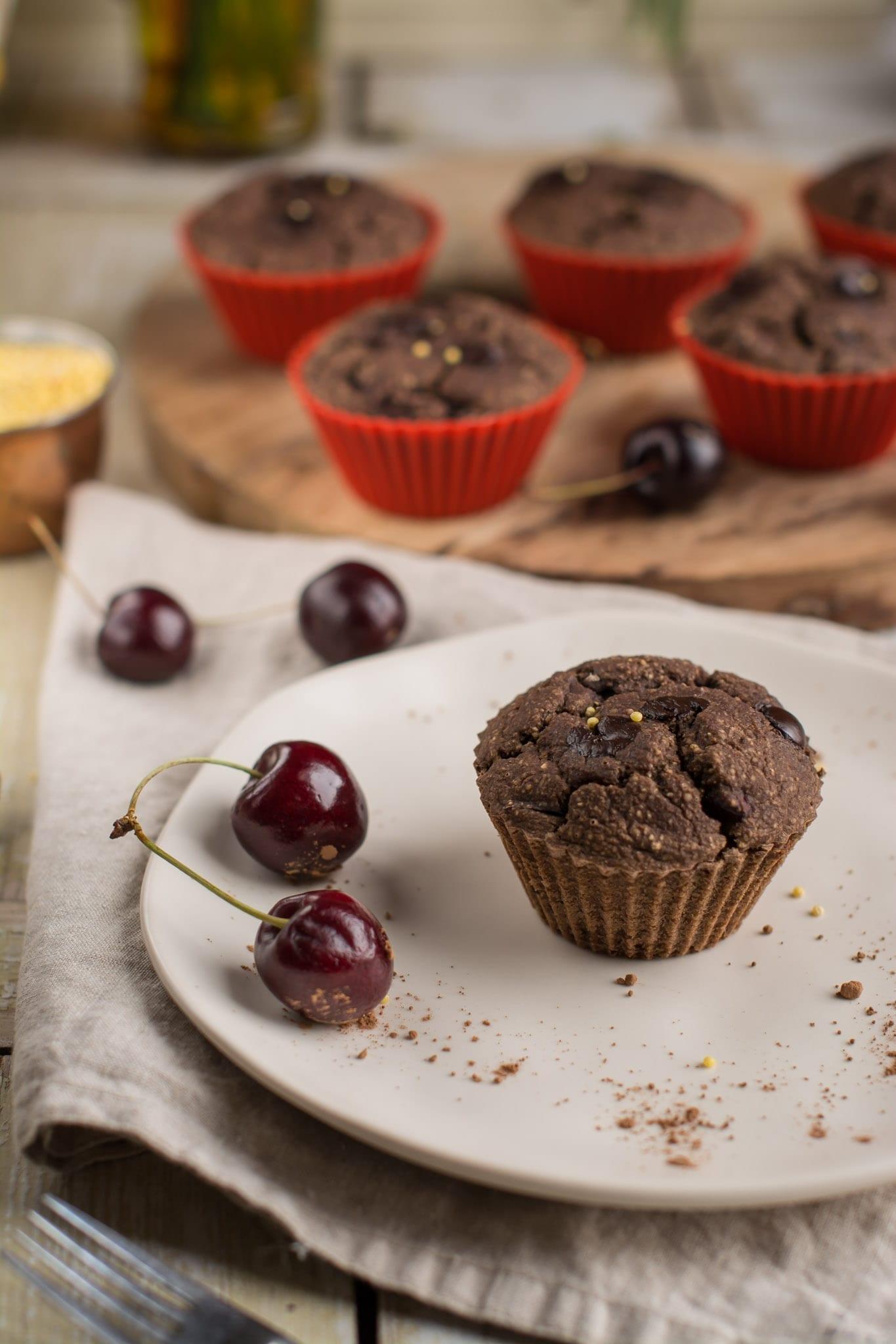 Gluten Free Vegan Cherry Muffins