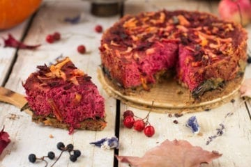 Vegan Quiche Recipe with Tofu and Beet