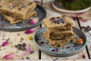 Gluten Free Vegan Blondies with chocolate chips