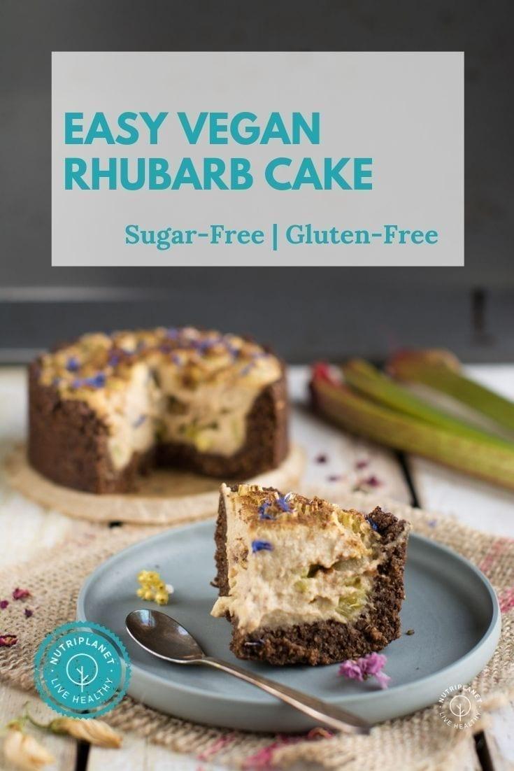 Easy Vegan Rhubarb Cake