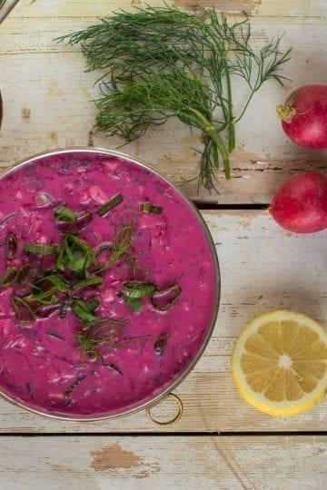 Vegan Cold Beet Soup
