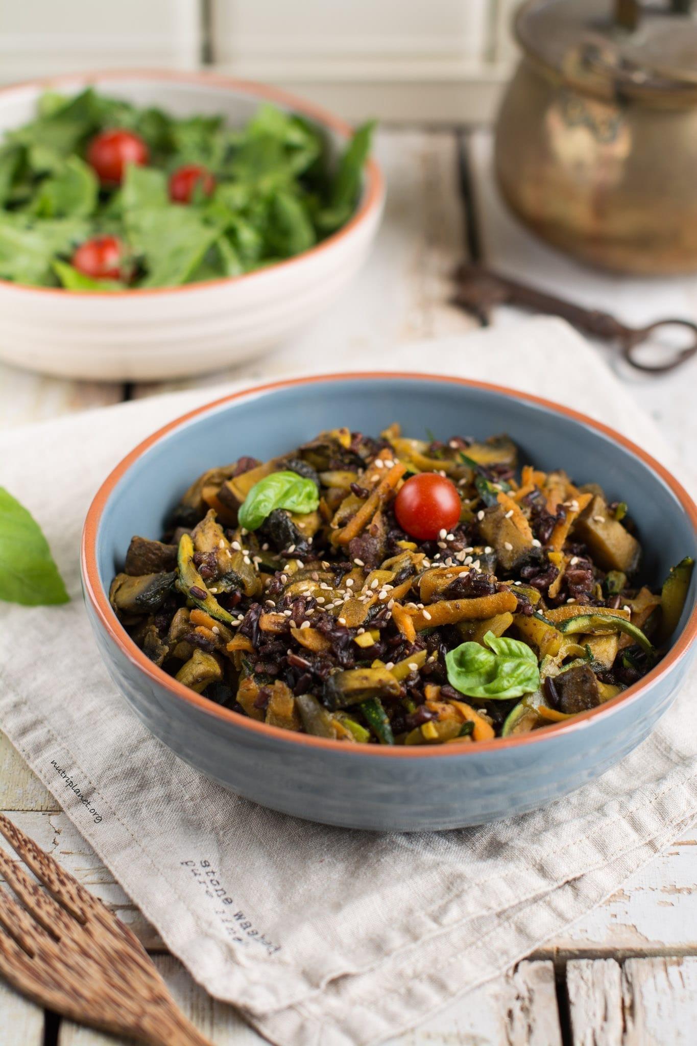Simple Veggie Stir-Fry with Mushrooms [Vegan, Gluten-Free]