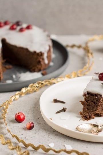 Gluten-Free Vegan Gingerbread Cake with Royal Icing