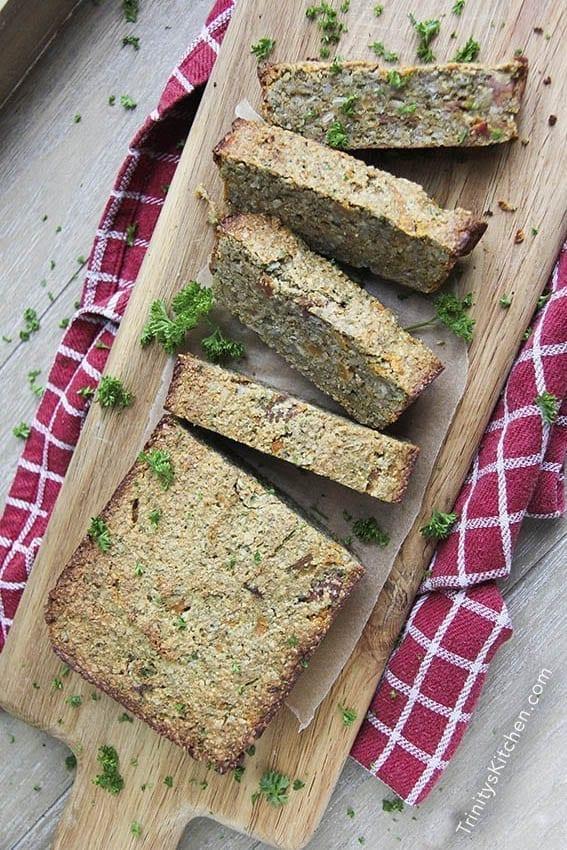Vegan Christmas Dinner: Sweet Potato Seed Loaf