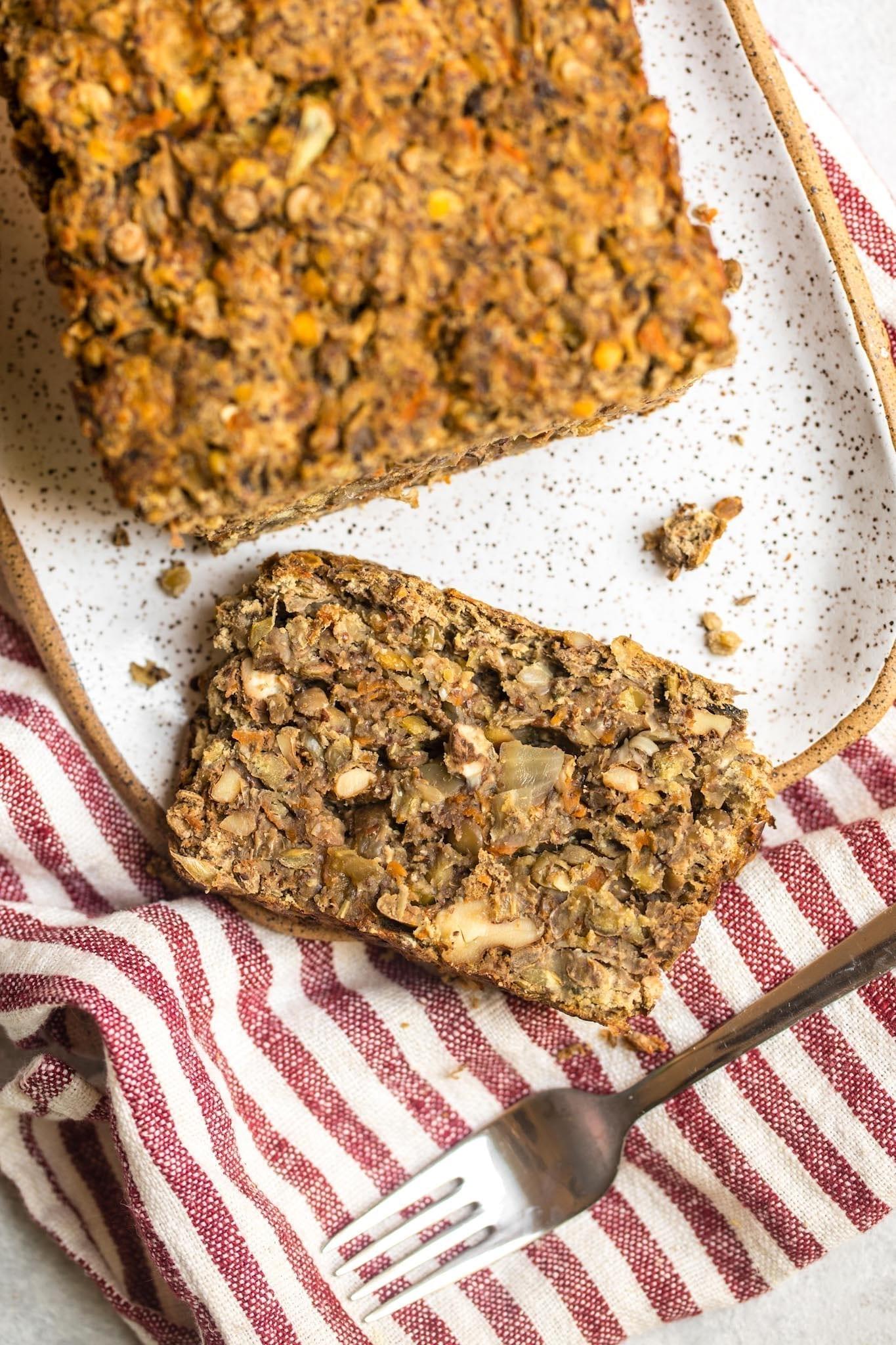 Vegan Christmas Dinner: Vegan Lentil Loaf Gluten Free Grain Free